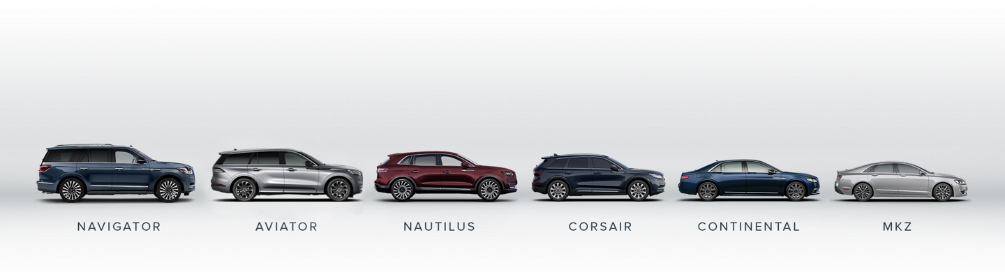 Lincoln Vehicle Line Up