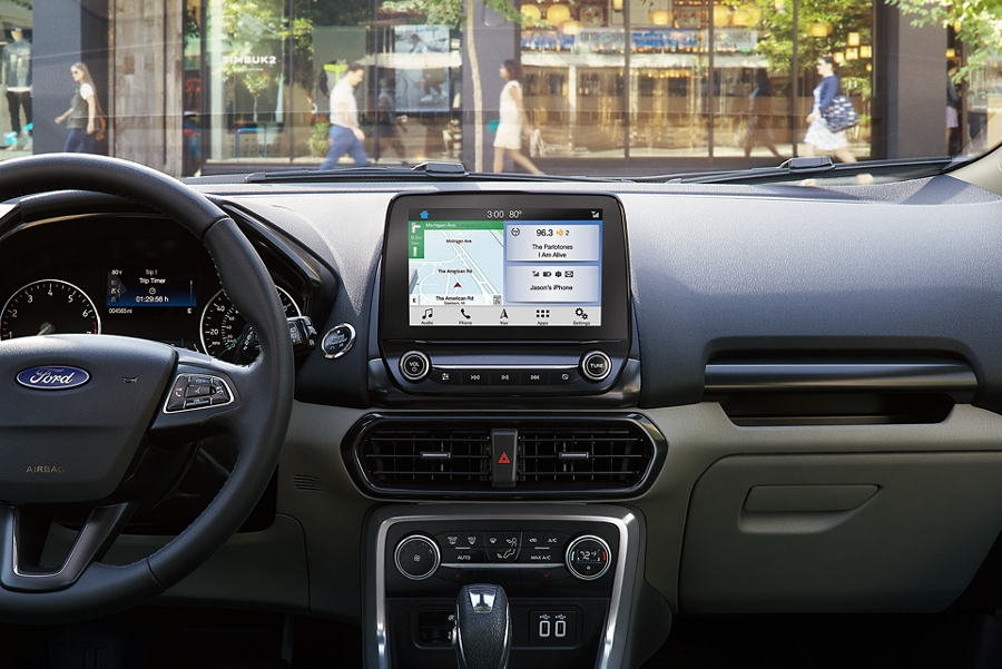The 2019 EcoSport with an in vehicle WiFi hotspot