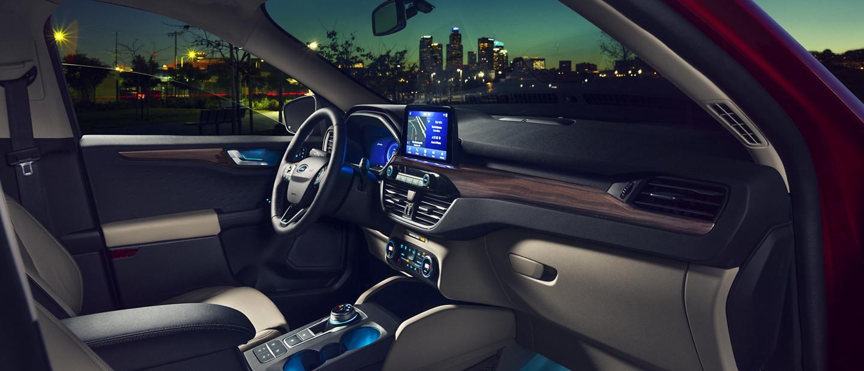 2020 Ford Escape Titanium gas interior showing plenty of room