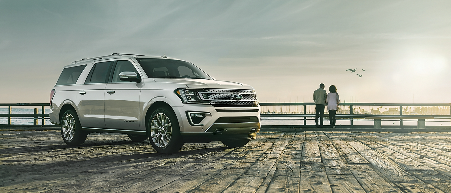 2019 Ford Expedition on a pier