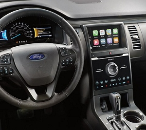 Ergonomic instruments and controls in 2019 Ford Flex