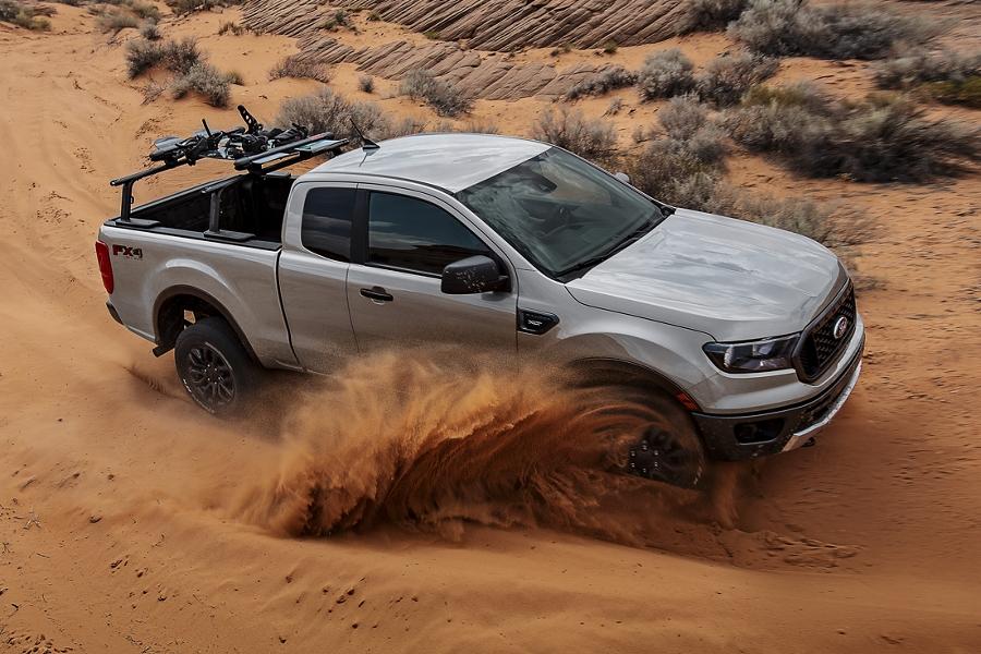 New Ranger 4 wheeling on a sand dune