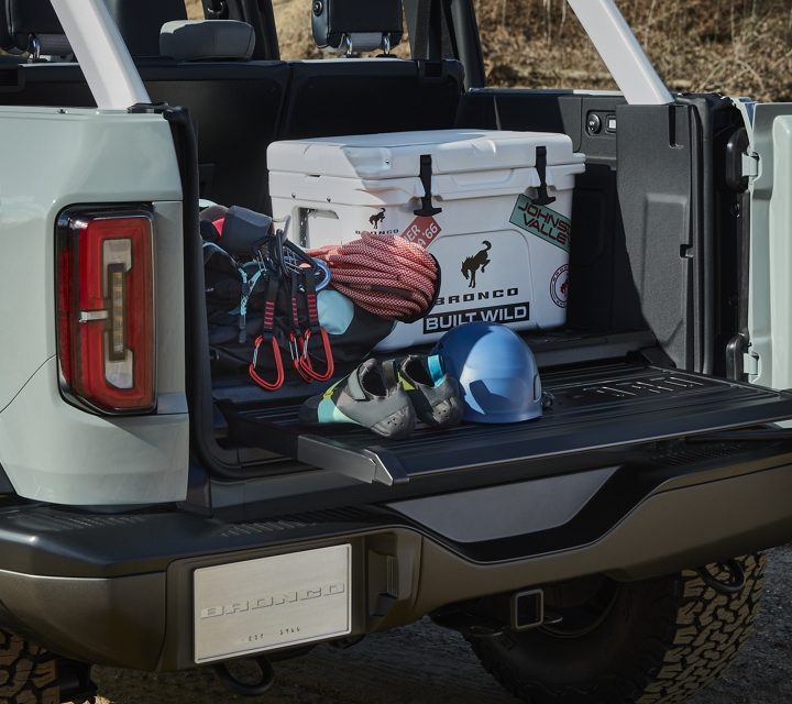 Rear view of storage space on 2021 Ford Bronco Design Property