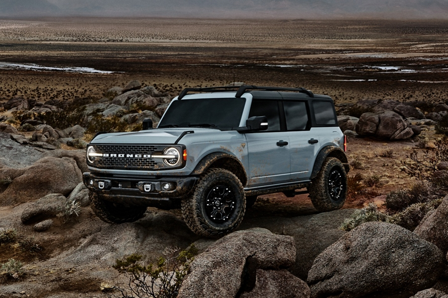 2021 Ford Bronco 4-door with available sasquatch package