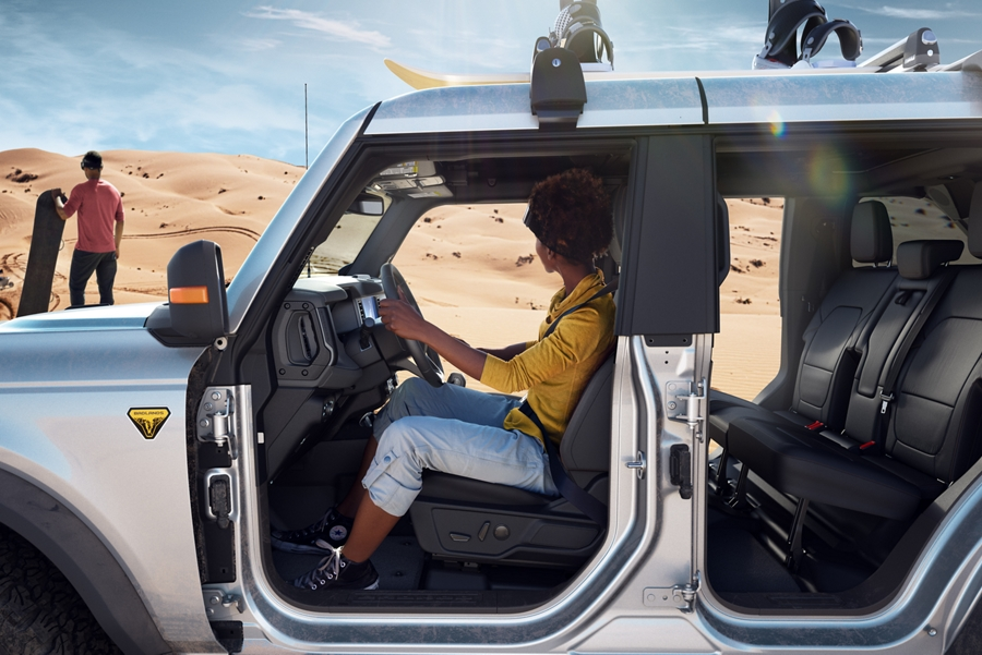 2021 Ford Bronco 4 door parked at the dunes