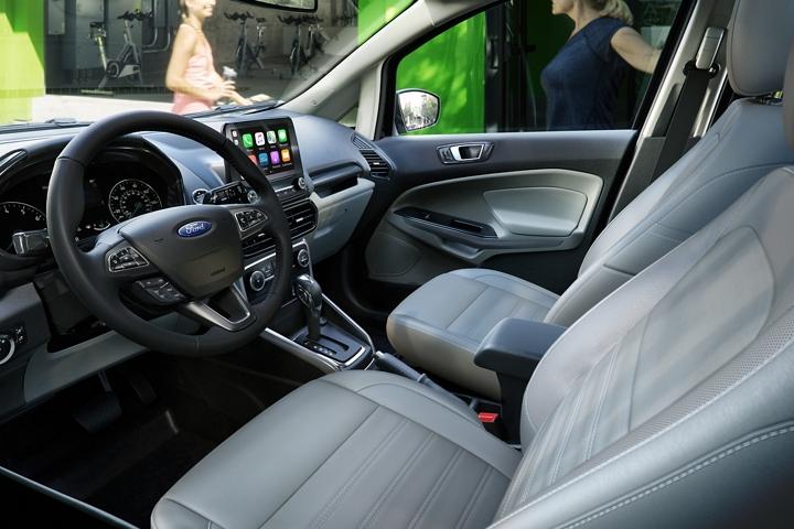 The 2020 Ford EcoSport Titanium with Medium Light Stone Interior
