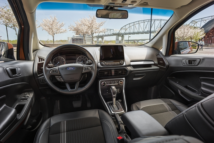 Interior view of a 2020 Ford EcoSport
