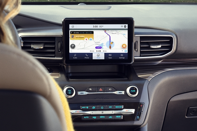 2020 Ford Explorer with Ford and Waze