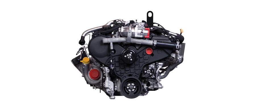 3 point 0 liter Power Stroke turbo diesel engine