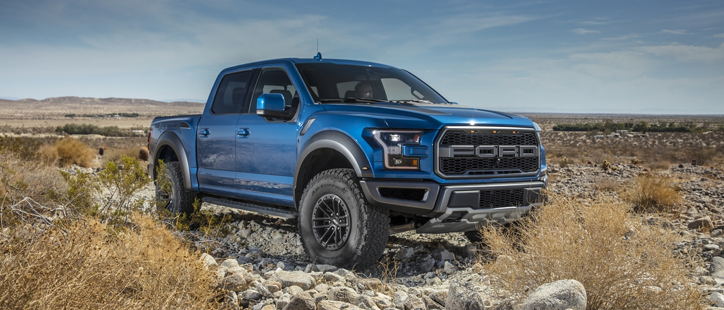2020 Ford F 1 50 Raptor on rocky terrain