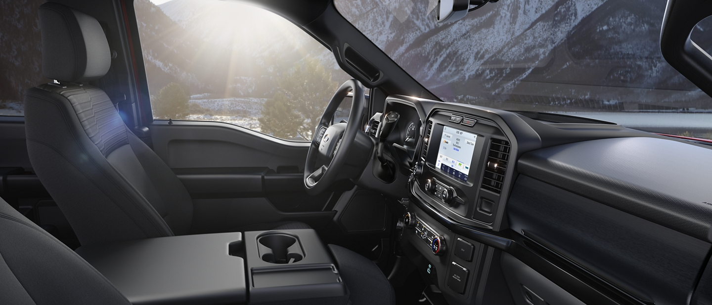 2021 Ford F one fifty S T X interior