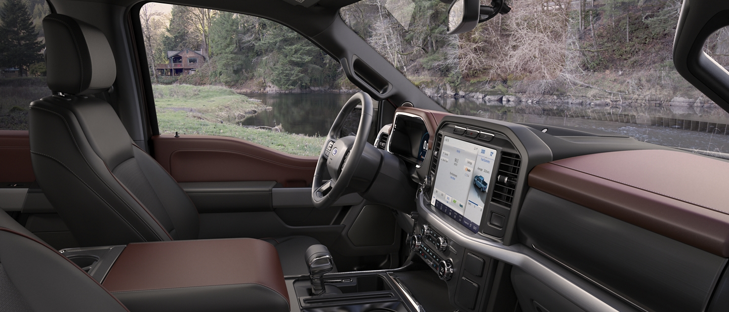 2021 Ford F one fifty Lariat interior