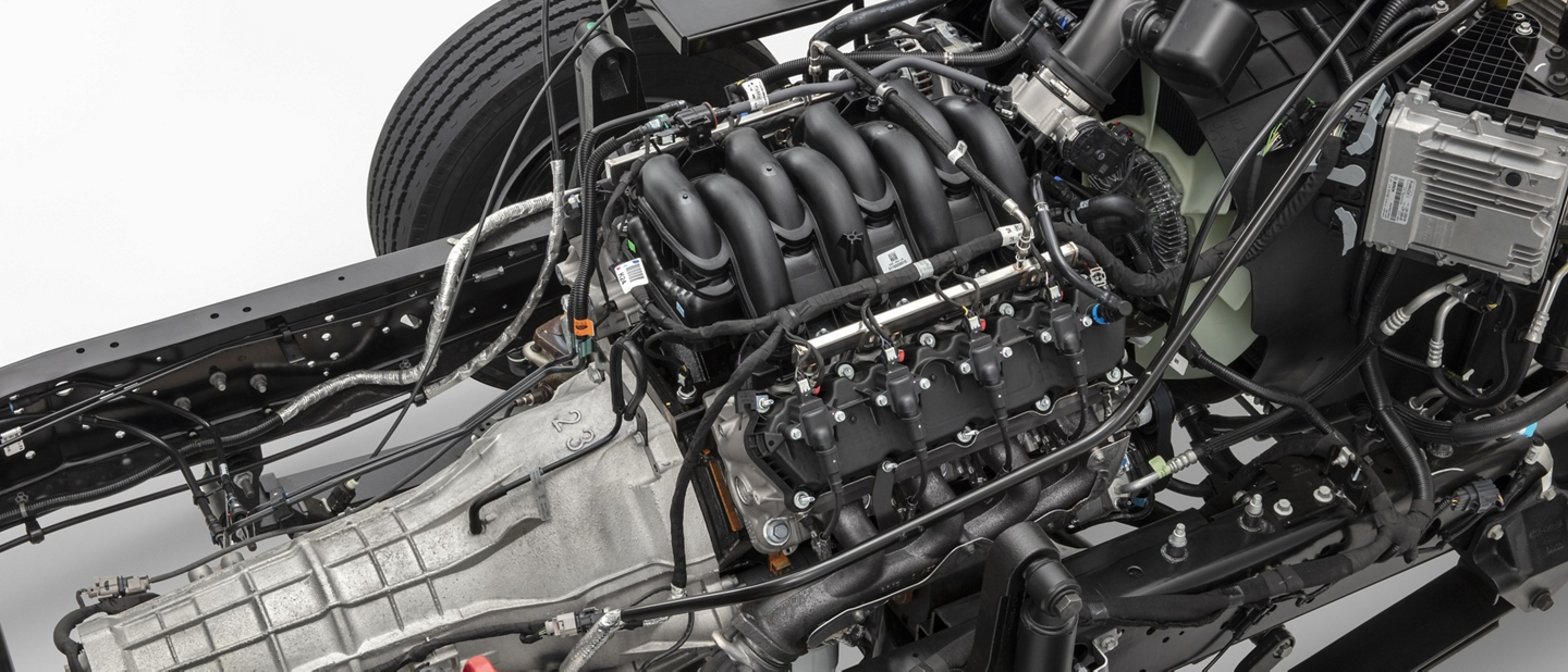 seven point three liter V 8 engine