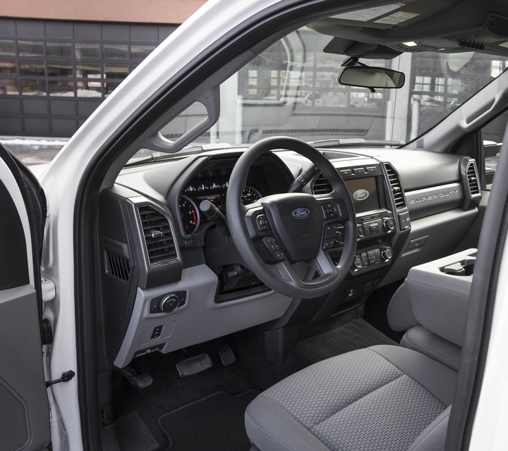 Interior shot of the all new Ford Super Duty Chassis Cab F 600