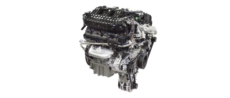 A three point five liter P F D I V 6 engine