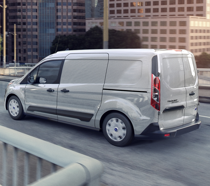 Capable and hard working Transit Connect Cargo Van in Silver