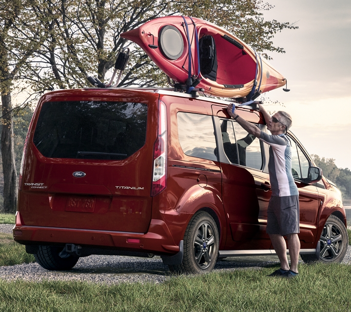 Kapoor Red 2020 Ford Transit Connect Passenger Wagon by the lake