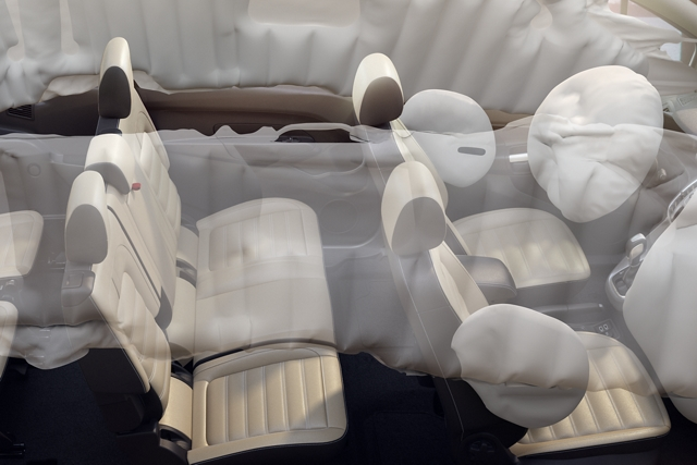 A representation of the Safety Canopy on the 2020 Ford Transit Connect Passenger Wagon