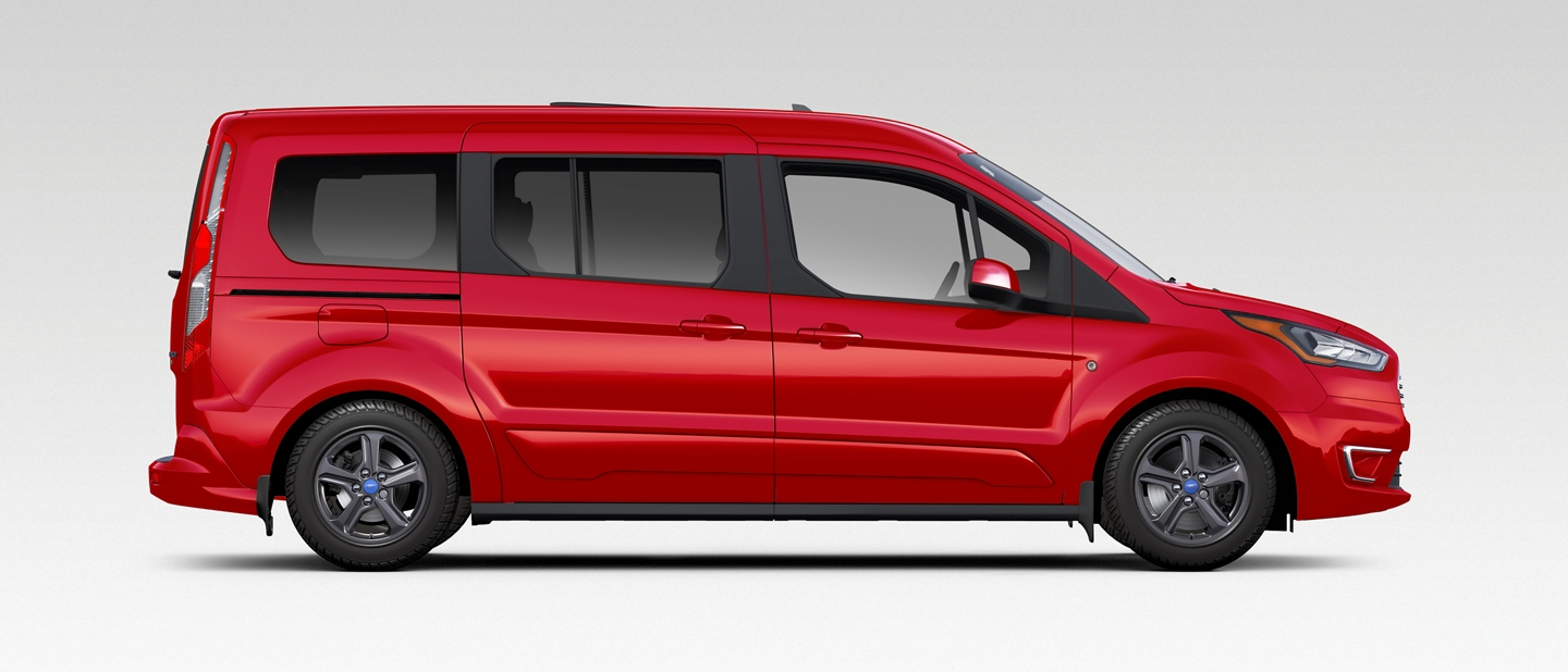 2020 Ford Transit Connect Passenger Wagon shown in Kapoor Red