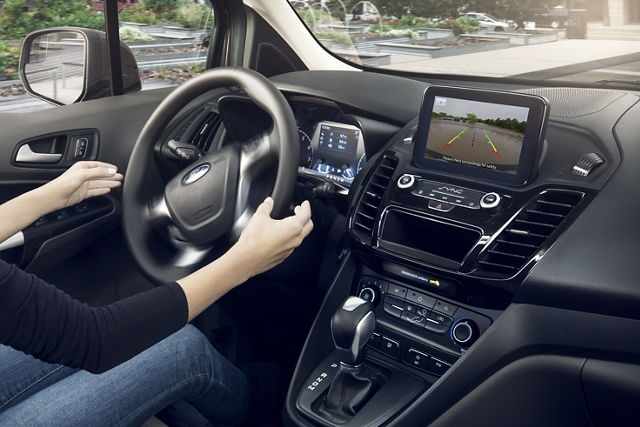 Easy parking with the available enhanced active park assist feature in use
