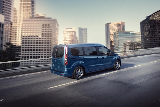 2020 Transit Connect Passenger Wagon on the road in the city.