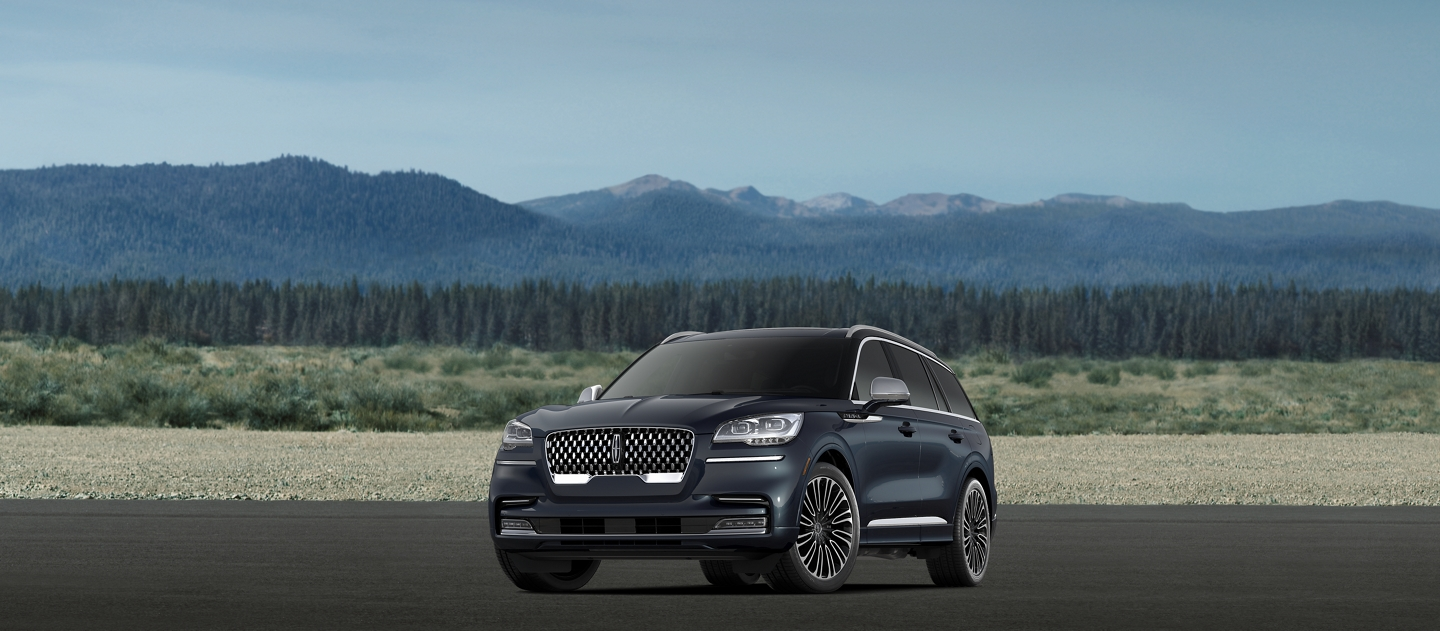 A 2021 Lincoln Aviator Black Label model is shown