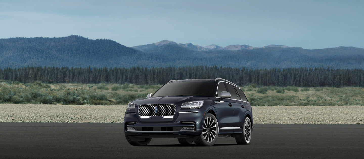 A 2021 Lincoln Aviator Black Label Grand Touring model is shown