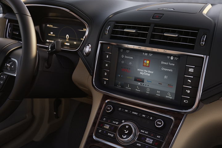 The Sirius X M Radio interface is shown in the central touch screen granting passengers access to more than 150 channels of entertainment