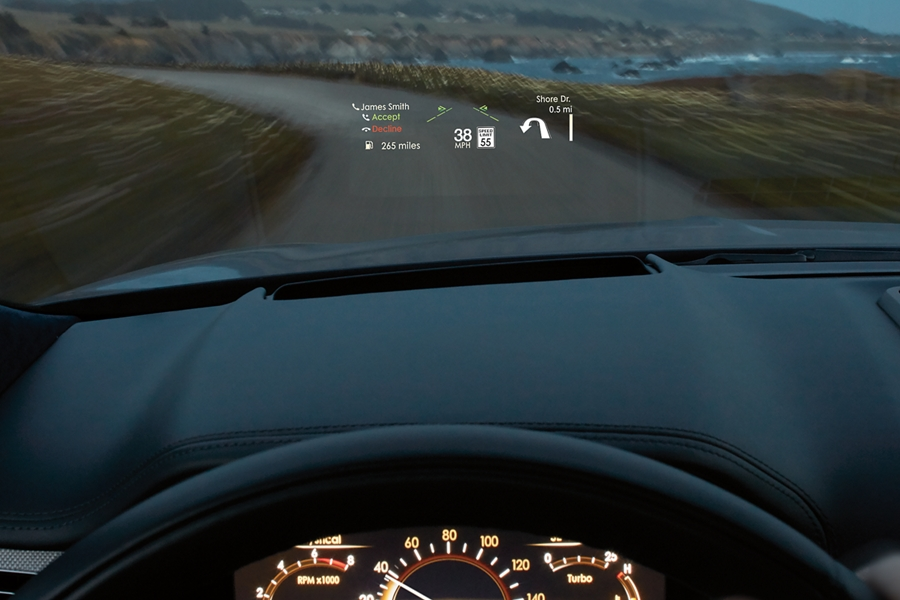 2020 Black Label Lincoln Continental has a sleek head-up display