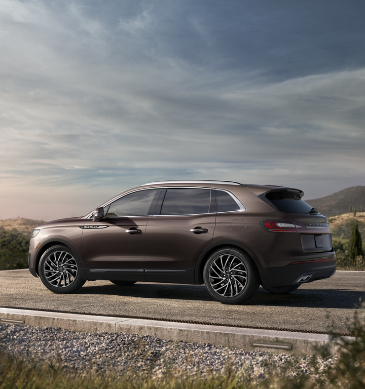 A 2020 Lincoln Nautilus is shown parked at a breathtaking scenic overlook