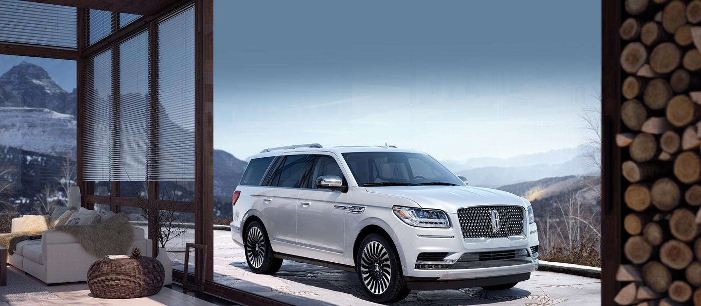 2020 Black Label Lincoln Navigator seen through sliding doors