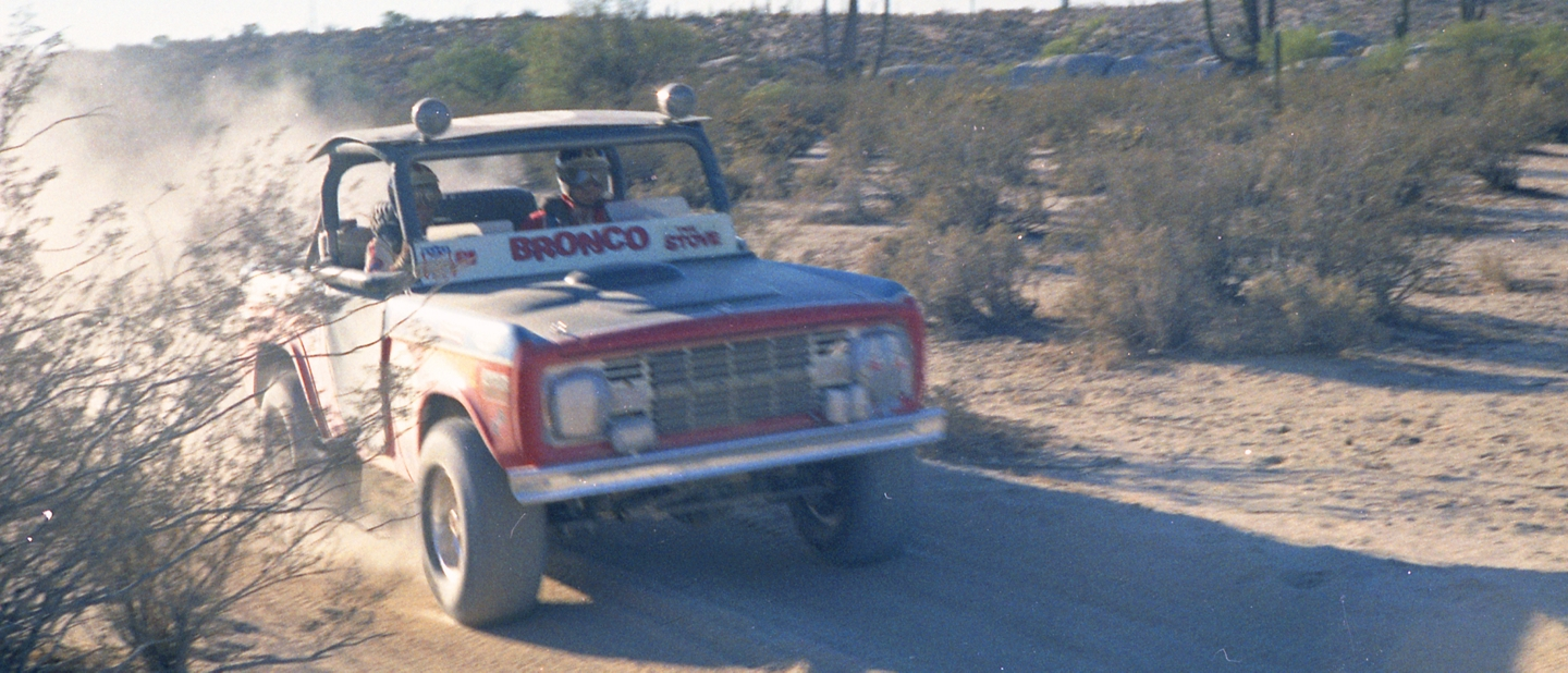 1970 Ford Bronco number 56 racing truck driven by Larry Minor and Rodney Hall