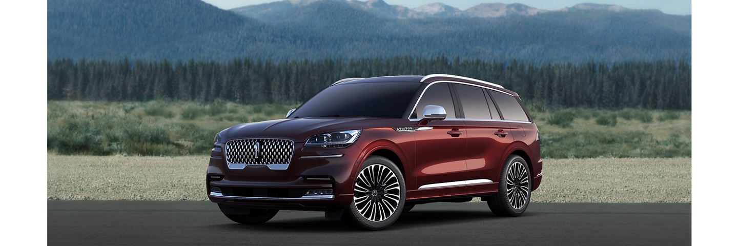 2020 Lincoln Aviator Black Label shown here in Burgundy Velvet