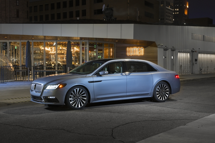 Lincoln Continental Coach Door Edition shown in front of store