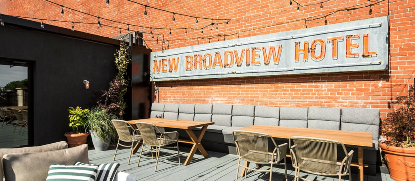 The Broadview Hotel outdoor seating area