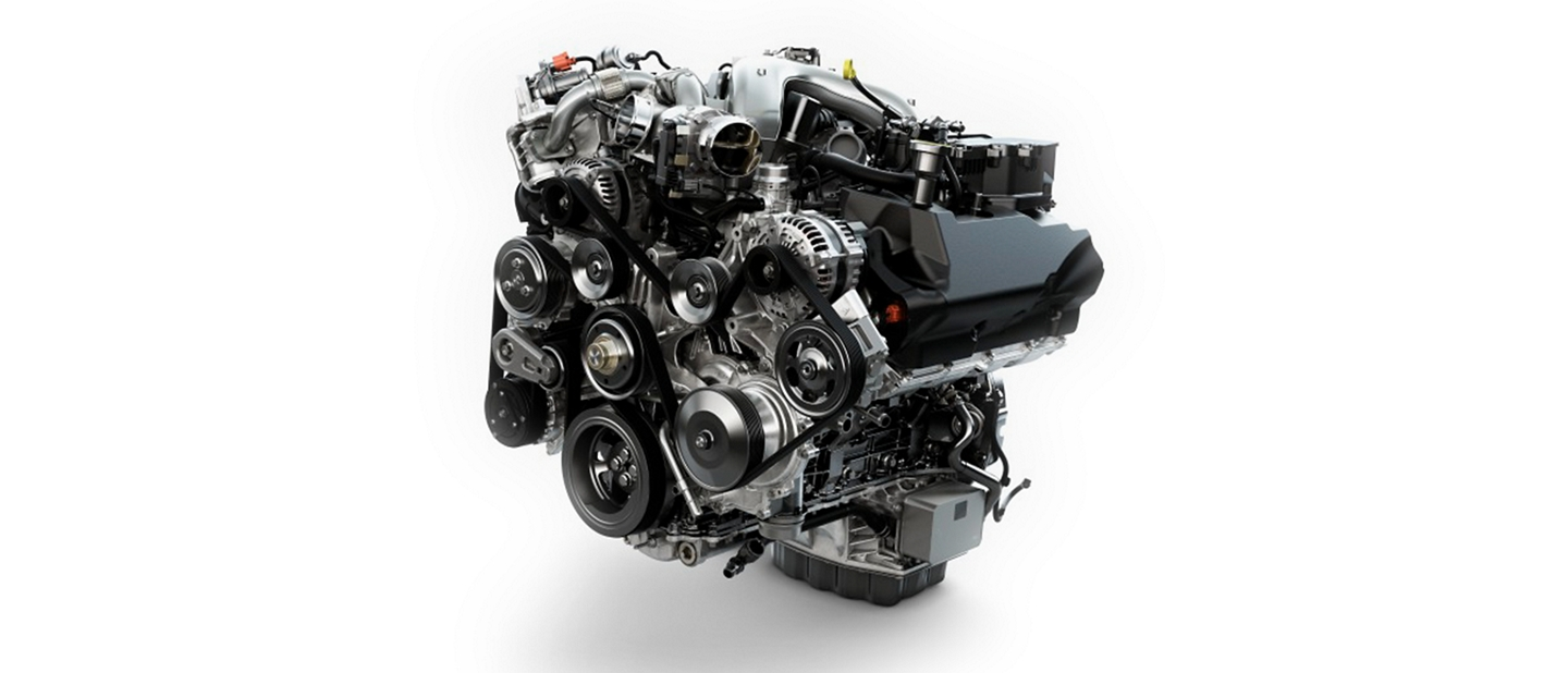 V 8 Turbo Diesel engine on the 2020 Ford Super Duty Chassis Cab