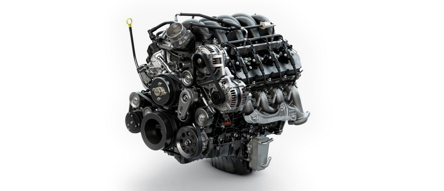 O H V P F I Gas V 8 Engine on the 2020 Ford Super Duty Chassis Cab