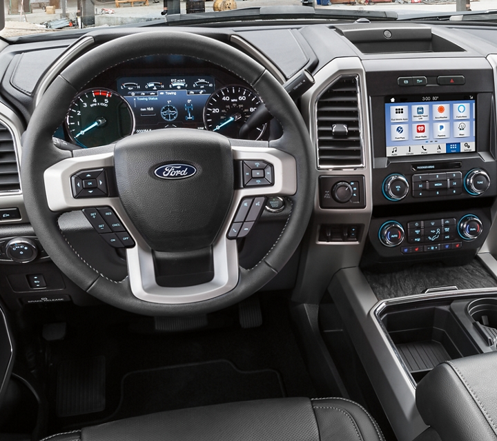 2020 Ford Super Duty Chassis Cab F 3 50 X L T Interior shown in Medium Light Camel