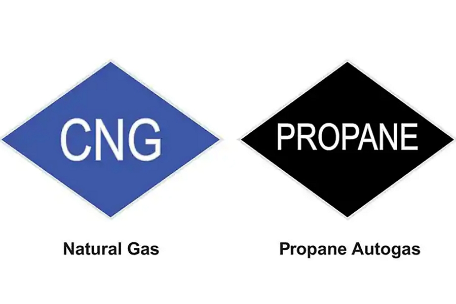 Image of Advanced Fuel Options Natural Gas C N G symbol and Propane Autogas symbol
