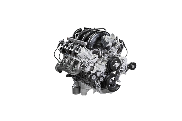 Standard V 8 engine with responsive low end torque performance