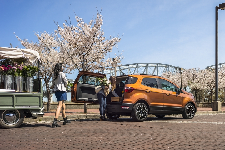 2019 Ford EcoSport S E S in Canyon Ridge with rear swing gate