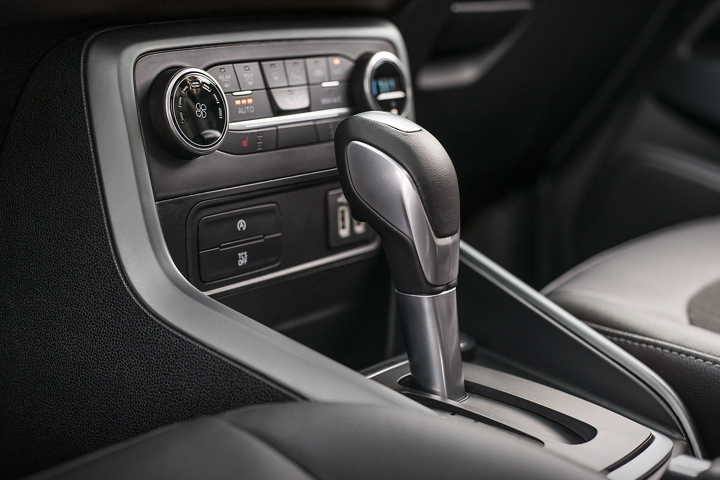 The 2019 EcoSport S E S includes a leather wrapped gear shift knob for a sophisticated look and feel