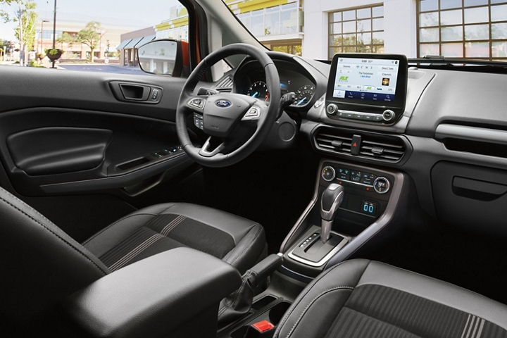 The 2020 Ford EcoSport S E S interior features bold grey accents