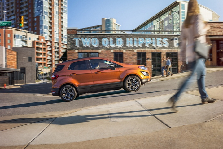 The 2020 Ford EcoSport S E S in Canyon Ridge uses hill start assist to help make ascents easier