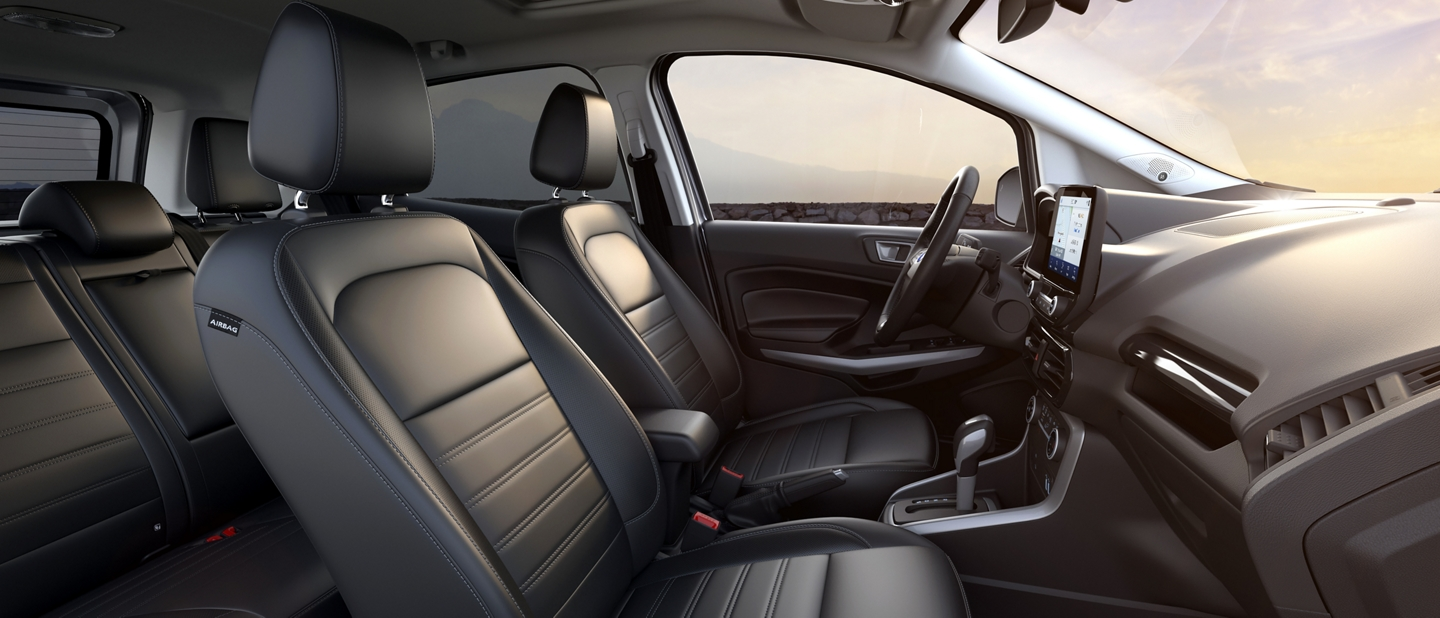 2020 Ford EcoSport interior with active x seating material