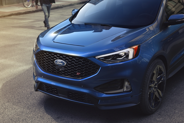 2020 Ford Edge S T shown in Ford Performance Blue
