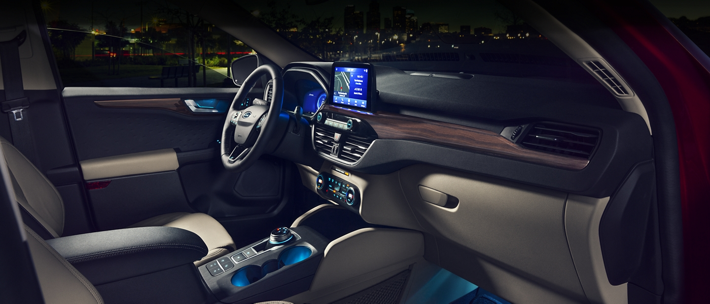 Spacious redesigned interior of 2020 Ford Escape