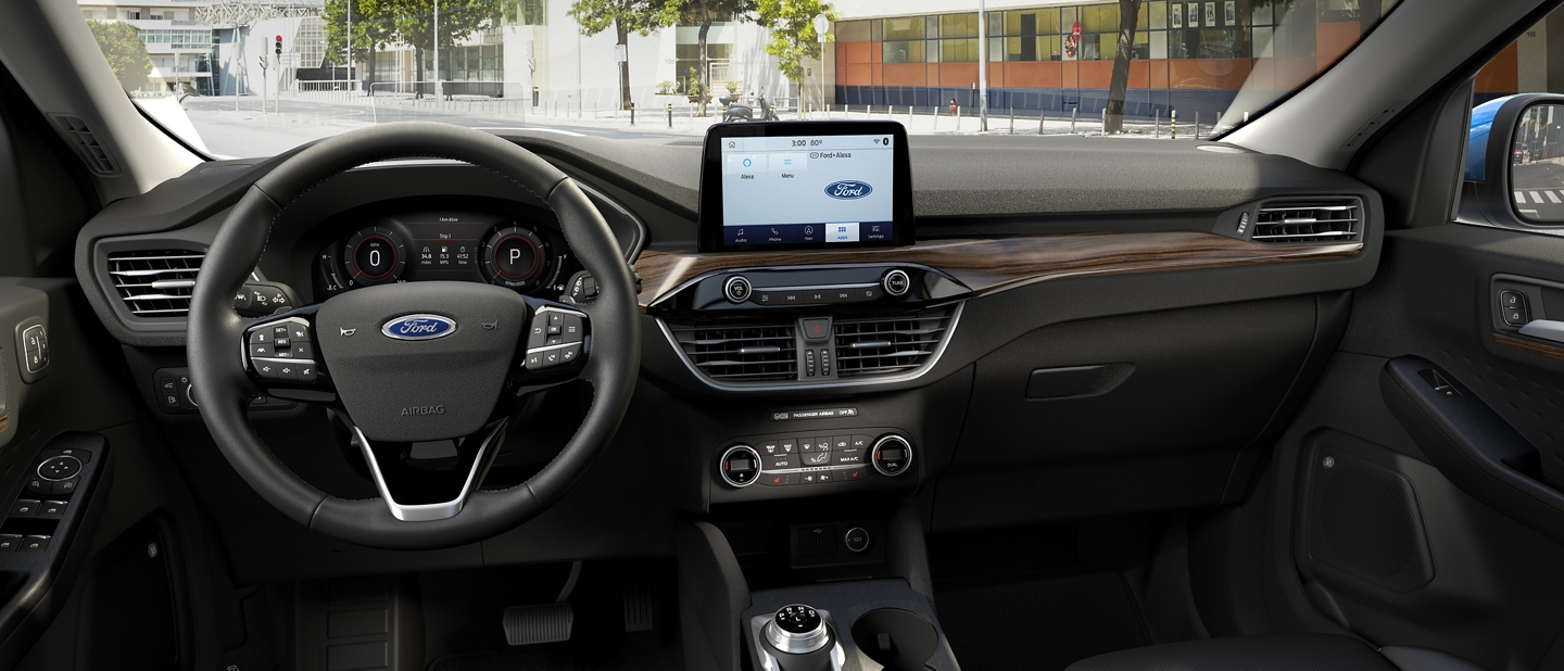 Interior view of 2020 Ford Escape Titanium