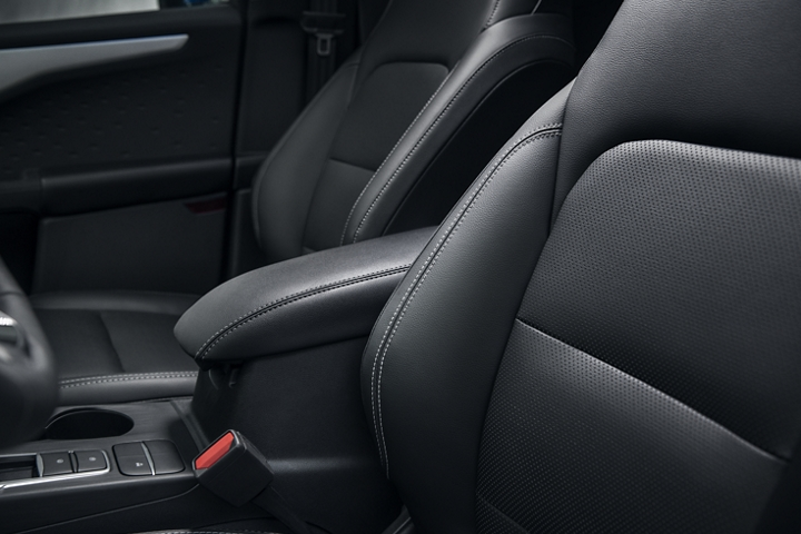 Interior view of black Active X seating in a 2020 Ford Escape