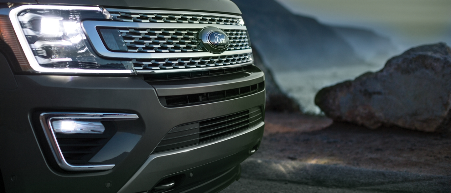 2019 Ford Expedition with available L E D headlights